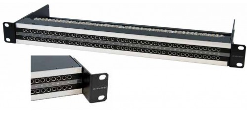 PATCH PANEL DE AUDIO BANTAM 48 CONECTORES x 2 FILAS .