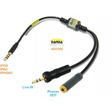 ADAPTADOR CONEXION A IPOD/IPAD/IPHONE ## 0,4 m. ## DE SEÑAL DE AUDIO