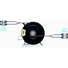 CONEXION 2 AUDIOS ANALOGICOS BALANCEADOS ## 100 m. ## EN CARRETE ENROL